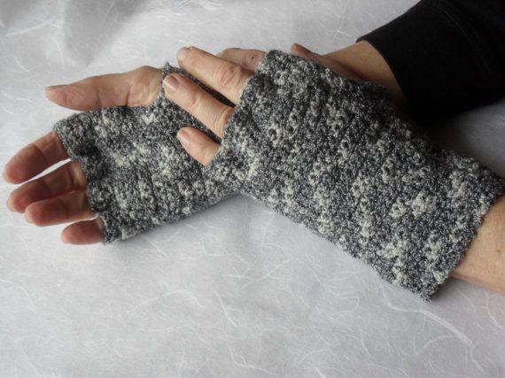 Fingerless Gloves   Black and Gray by Pepperbelle on Etsy, $25.00  Free Shipping
