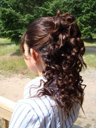 Partial Updo Hairstyles With Bangs Long Straight