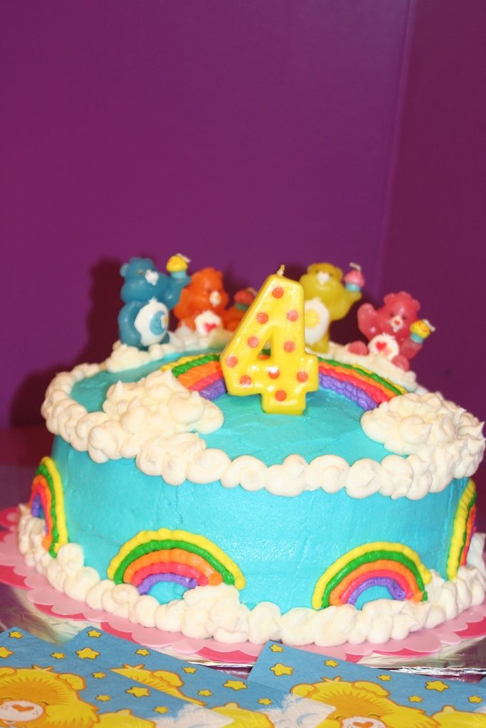 Care Bear Cake Care Bear Party Pinterest Care Bear Cakes Bear
