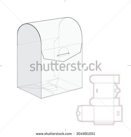 Curved top retail box with blueprint template curved top retail box with blueprint template pronofoot35fo Images