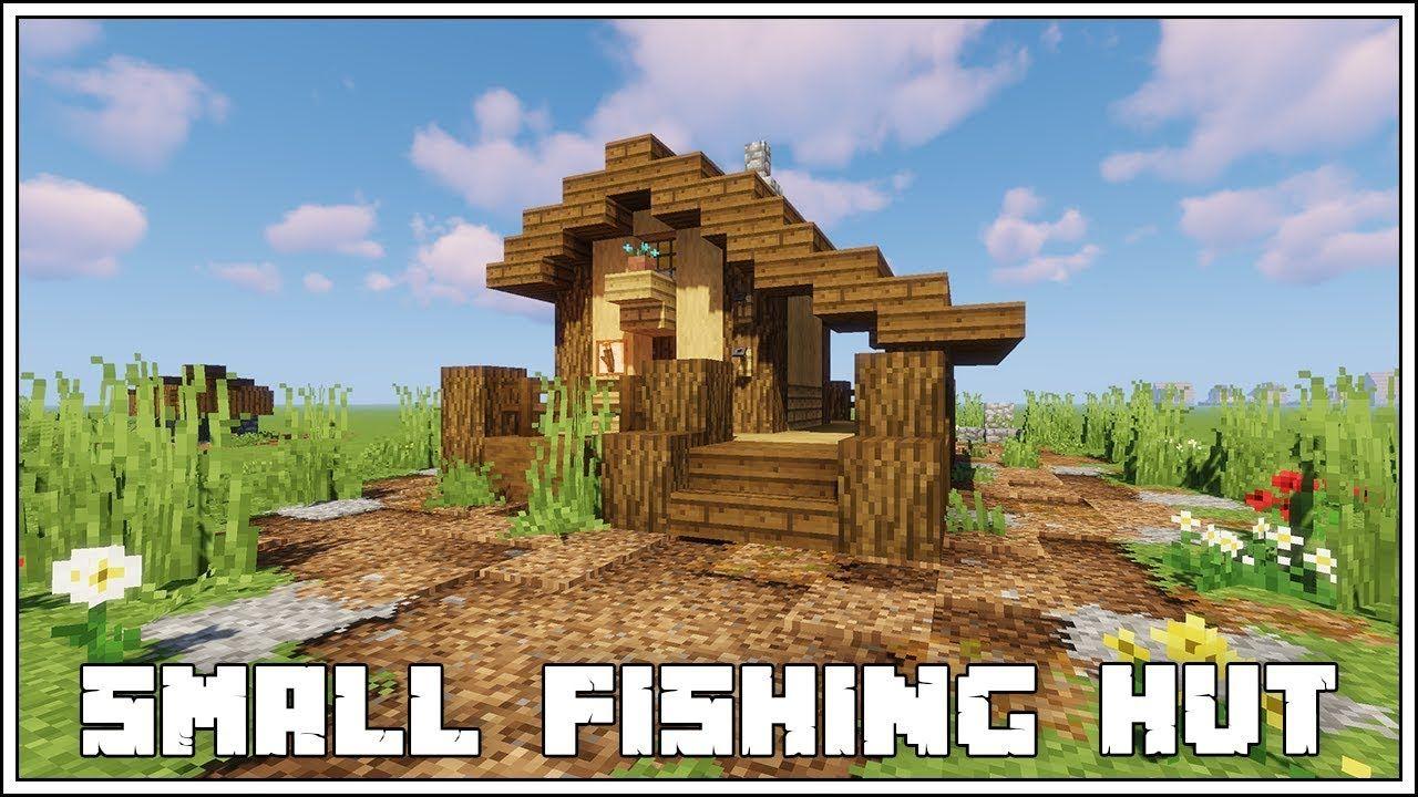 Minecraft Tutorial ▻ SMALL FISHING HUT! - YouTube  Minecraft
