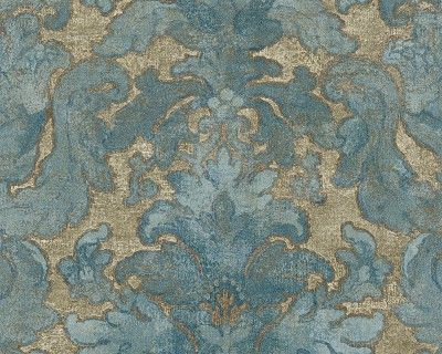 Vliestapete Bohemian Burlesque 960461   9604-61 Barock Ornament - wohnzimmer grun blau