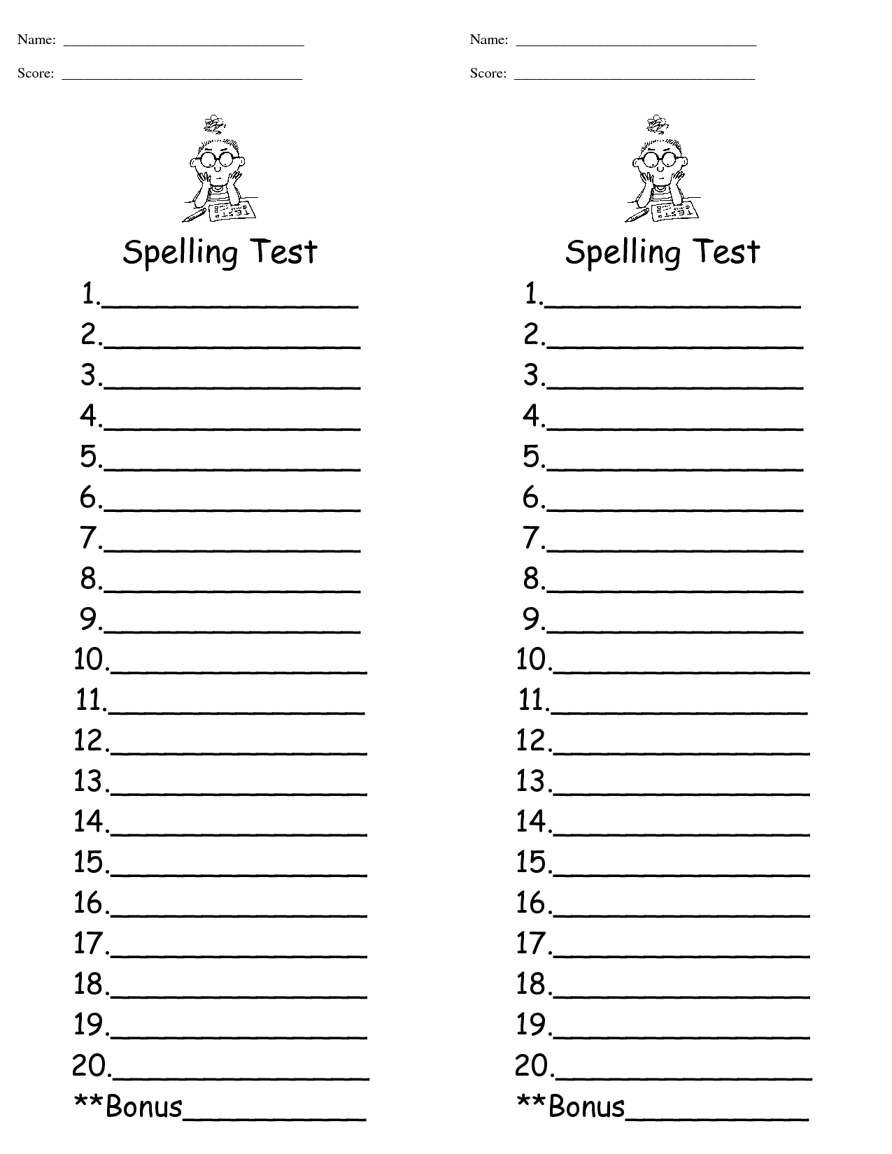 Free 1st Grade Worksheet Spelling Pictures