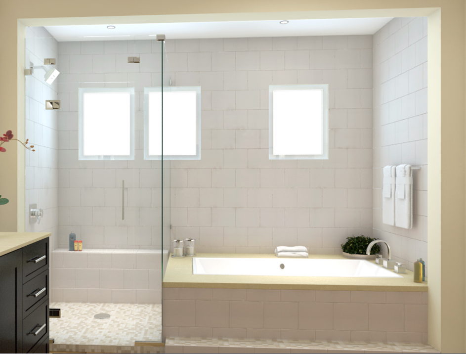 Master Bath Tub Shower Combo Op 3 Shower Panels
