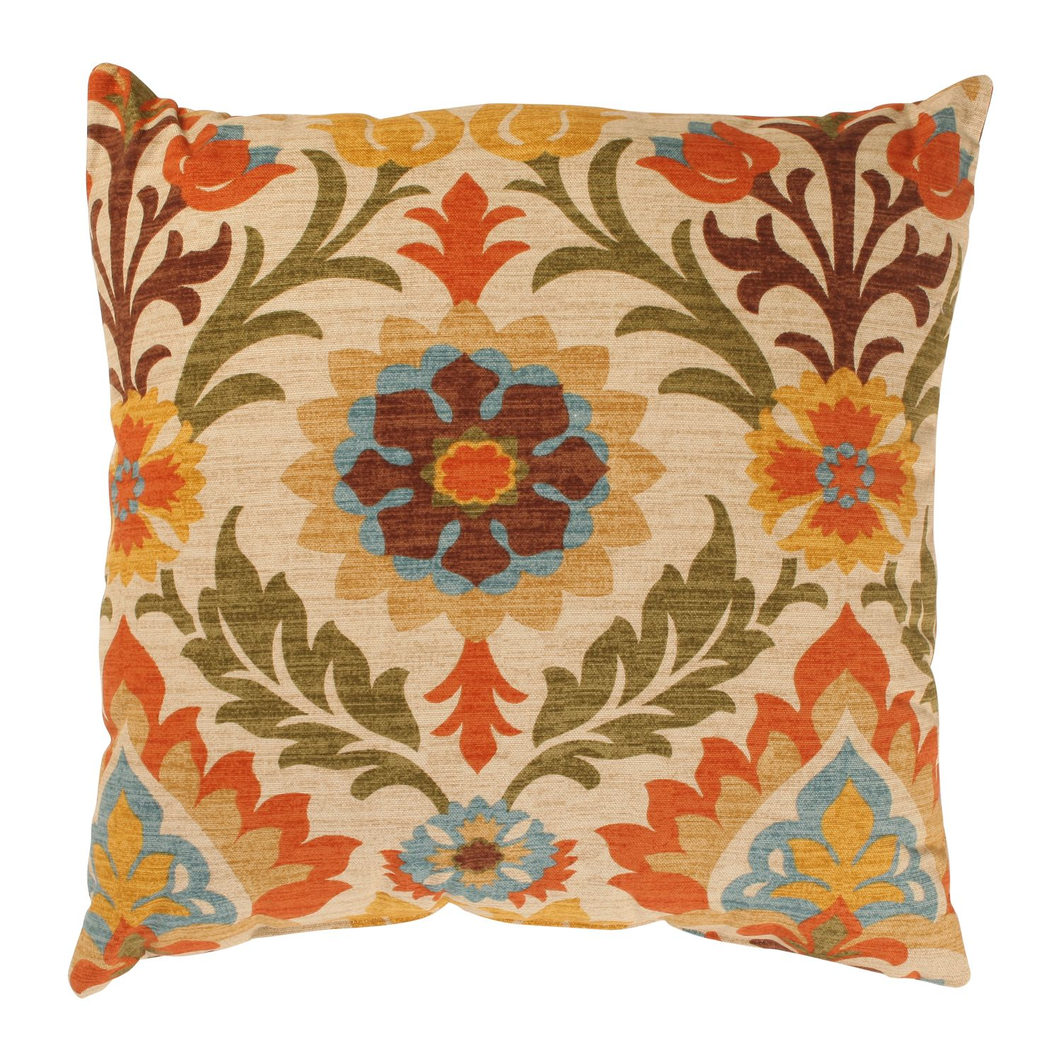Pillow Perfect Santa Maria 18 Inch Adobe Throw Pillow Bedroom