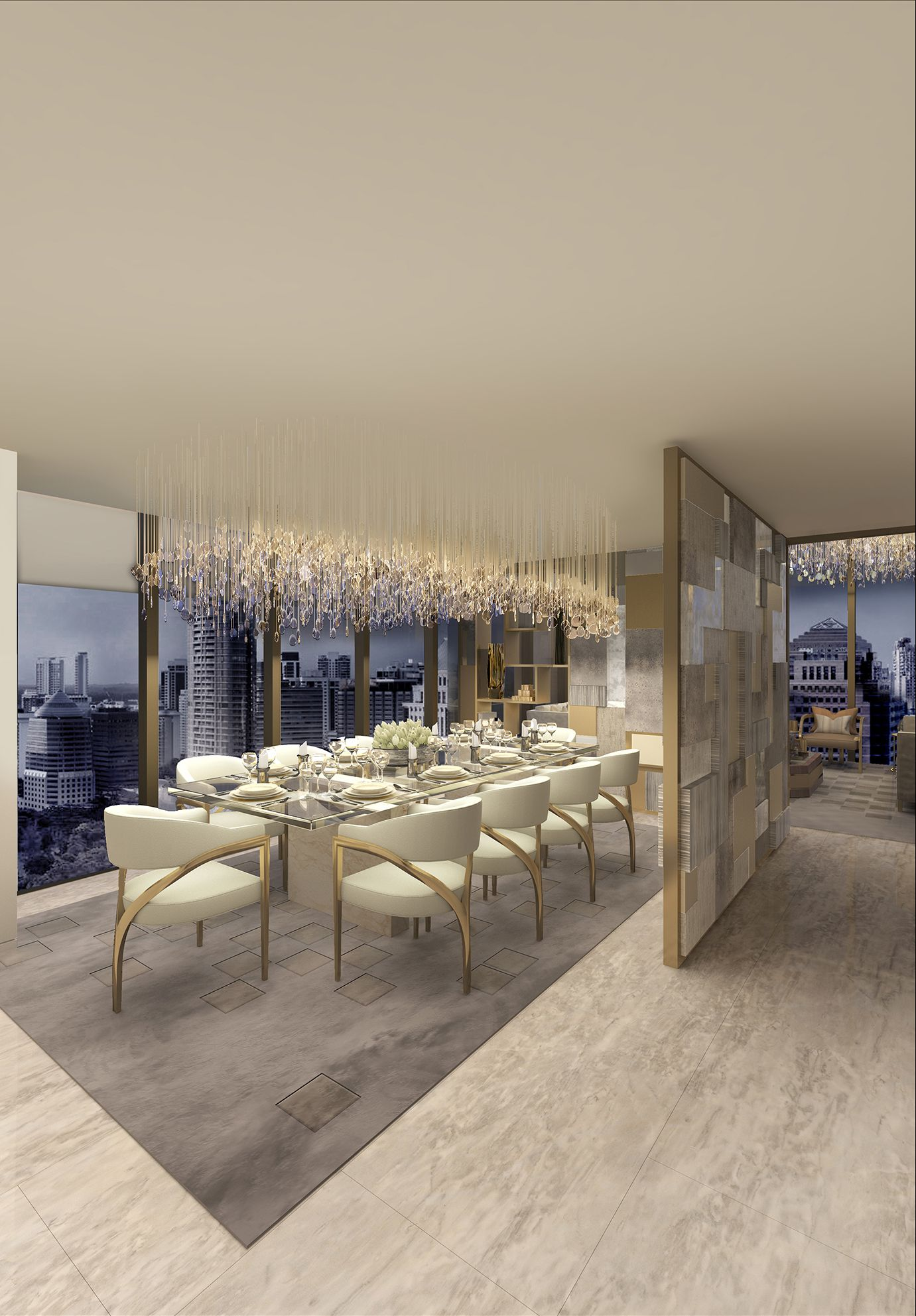 Dining Room The Apartment Singapore Morpheus London Glamourous Dining Room Dining Room Interiors Dining Room Decor