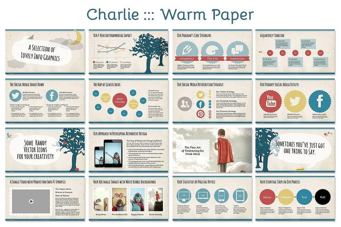 Charlie Powerpoint Template Bugs Butterflies Cheerful
