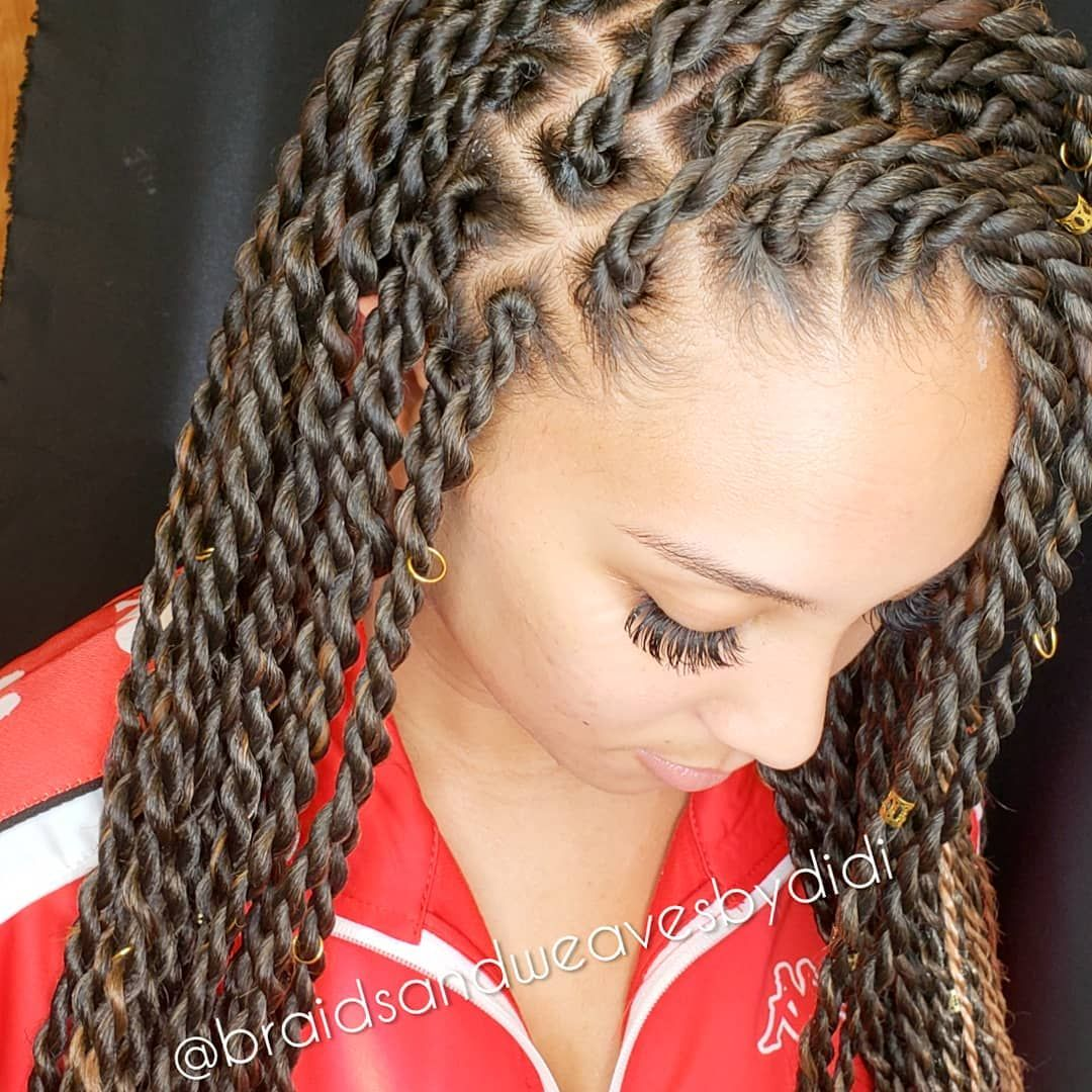 Medium Senegalese Rope Twists Knotless Method No Matter Your Curl Pattern Your Hair Cannot Be S Twist Braid Hairstyles Senegalese Twist Hairstyles Hair Styles