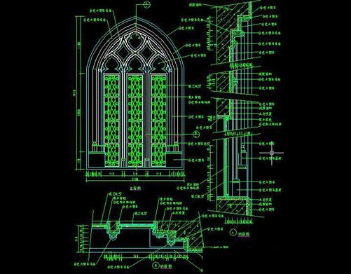 Western window cad drawings 2 free autocad drawing cad for Window design cad