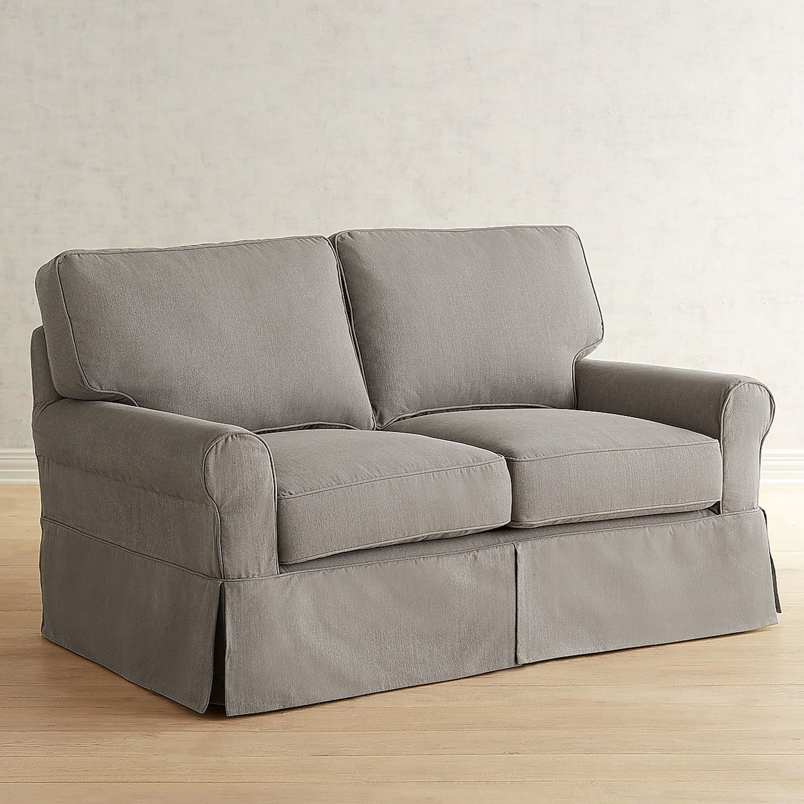 Lia Pierformance Slate Gray Slipcovered Loveseat $1,199