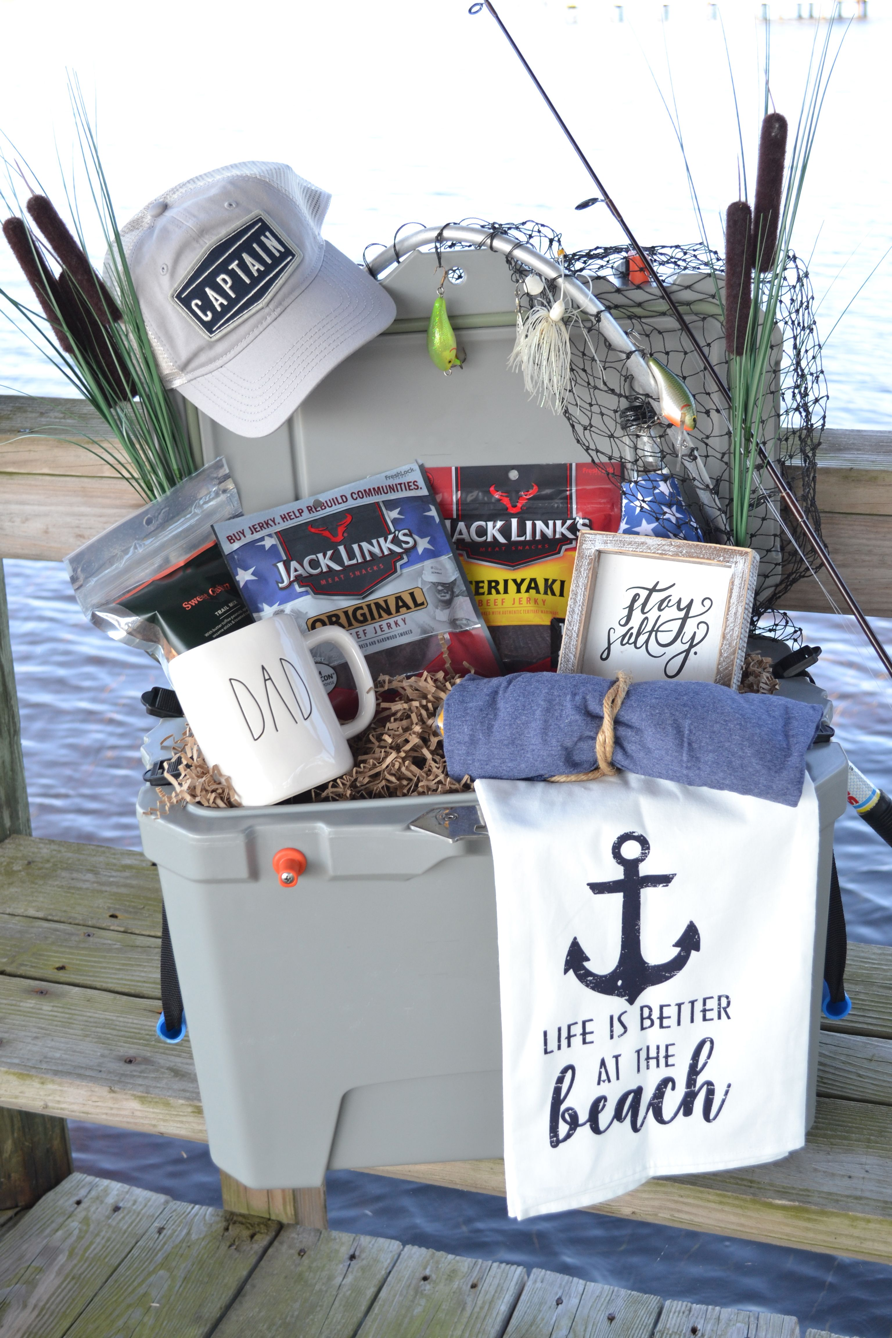 Fathers day gift basket for fishermen fathers day gift
