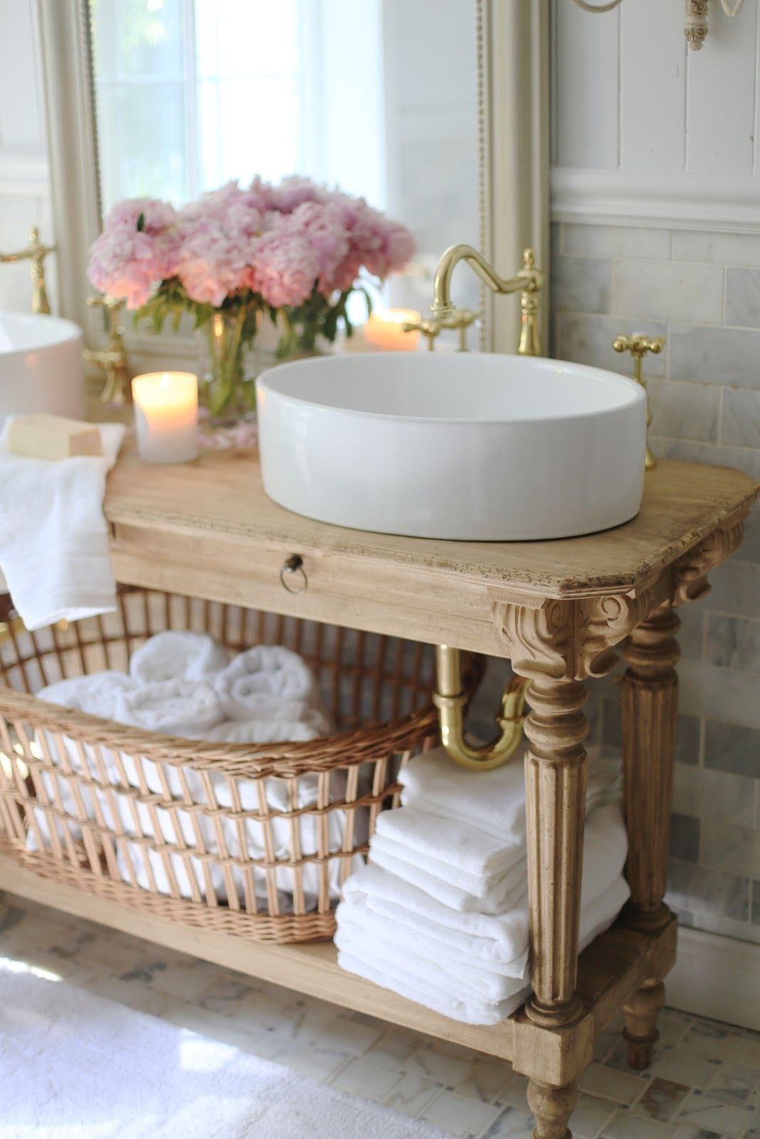 Elegant French Cottage Bathroom Renovation Peek Why I Am In Love Already French Country Cottage French Cottage Bathroom French Country Bathroom Country Bathroom Designs
