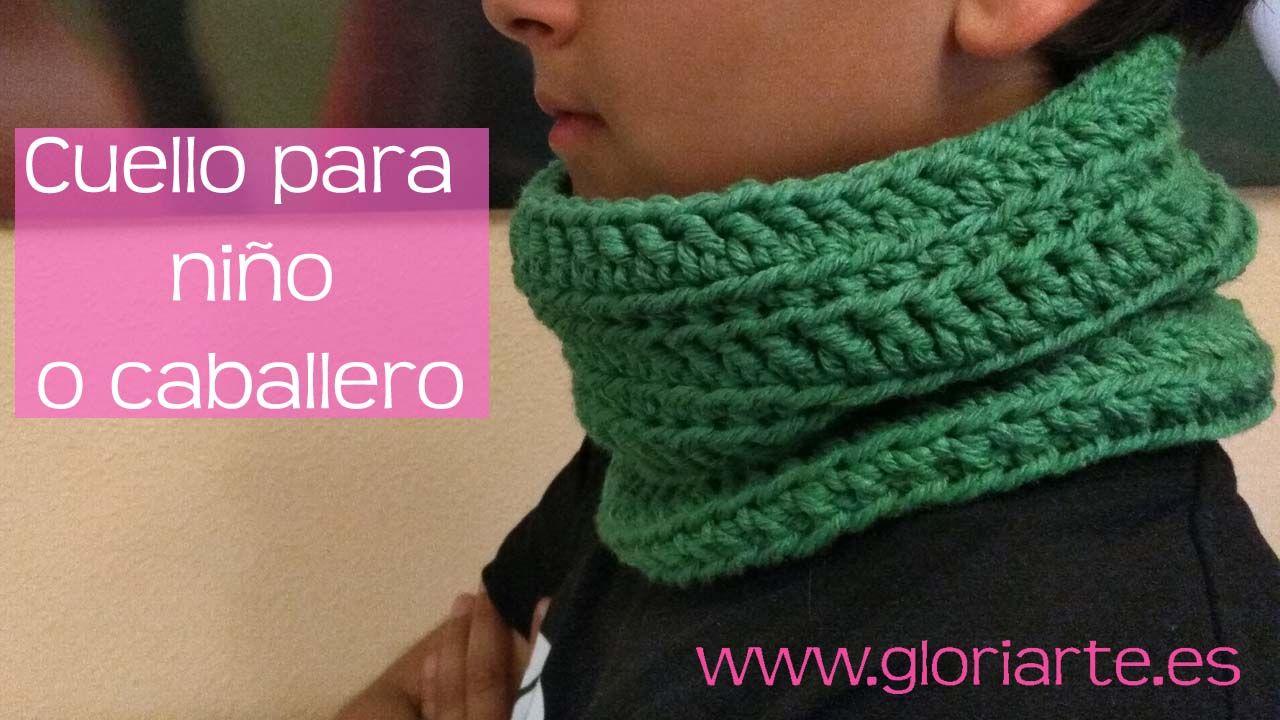 Cuello de ganchillo o crochet ideal para niños o caballero. Muy ...