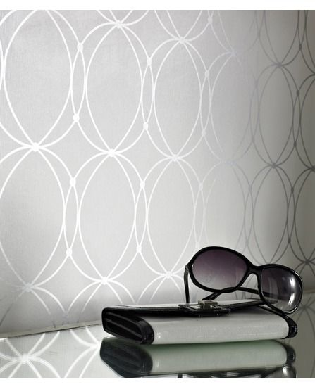 Darcy white silver wallpaper from - Darcy wallpaper ...