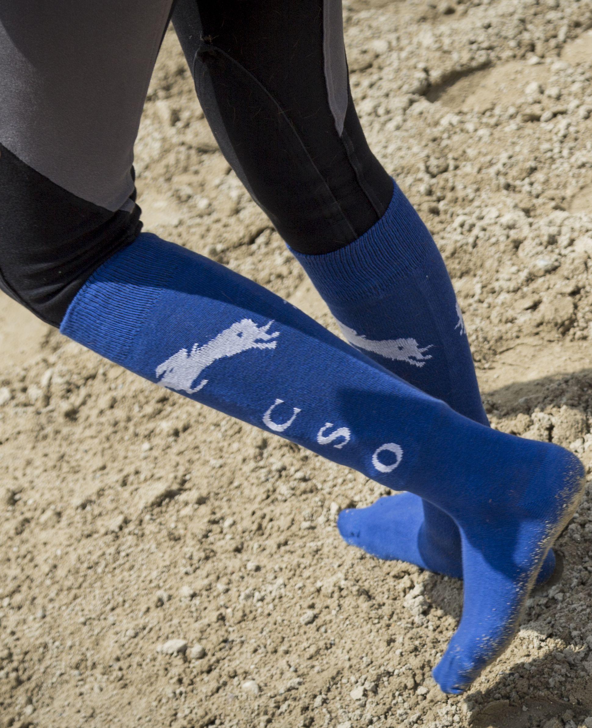 Sans Couture Confort Coton Équitation Chaussettes pour bottes longues deux couleurs la vente!