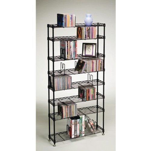 Multimedia Storage Racks 8 Shelves Atlantic By Avexelectric