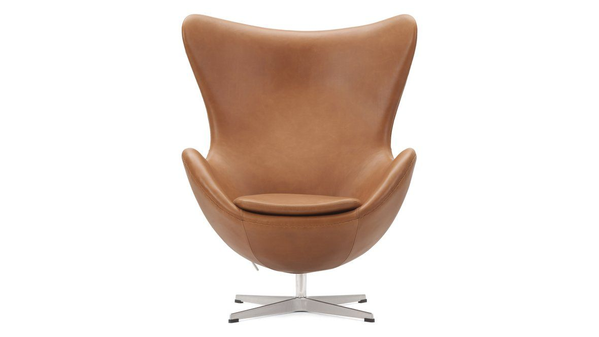 Egg Chair The Egg Chair Brown Premium Leather In 2020 Egg