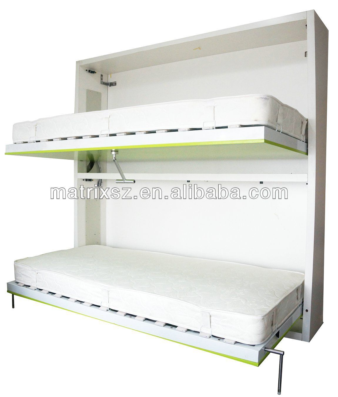bunk horizontal double wall folding bed wall bed china