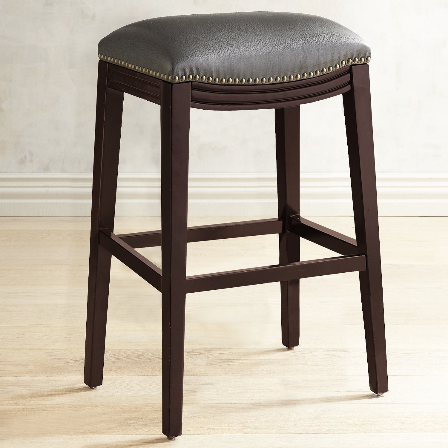 Halsted Pewter Backless Counter Bar Stool Backless Bar Stools