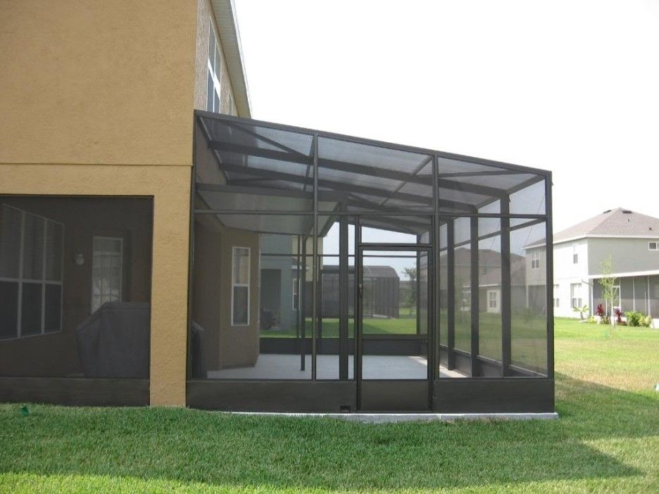 Front Porch Modern Front Porch Enclosure Of Screen Room Designed With Black Frames Combine Wit Interior Paint Colors Screened In Porch Furniture Interior Paint