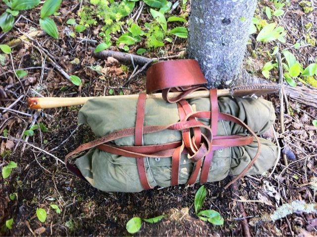 My bedroll rigged with a tumpline.