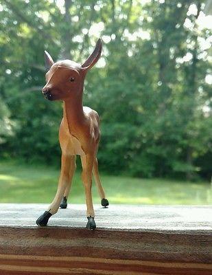 Pair (2) Vintage Celluloid Deer Fawn Figures