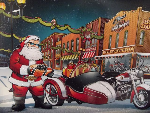 Motoblogn: Santa Rides A Motorcycle Christmas Card Collection ...