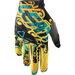 Photo of Leatt Gpx 1.5 GripR Tattoo Handschuhe Blau Gelb Xl Leatt Brace