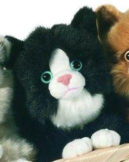 Hermann 90612 Cat Black White A Stuffed Animals Plush Cats