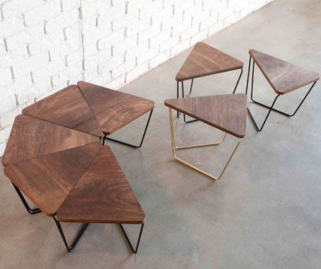 Bon The Fractal Series By Sarah Gibson And Nicholas Karlovasitis Of Design By  Them Is A Modular Piece, Using Pattern And Repetition To Uniquely Arrange A  Table.