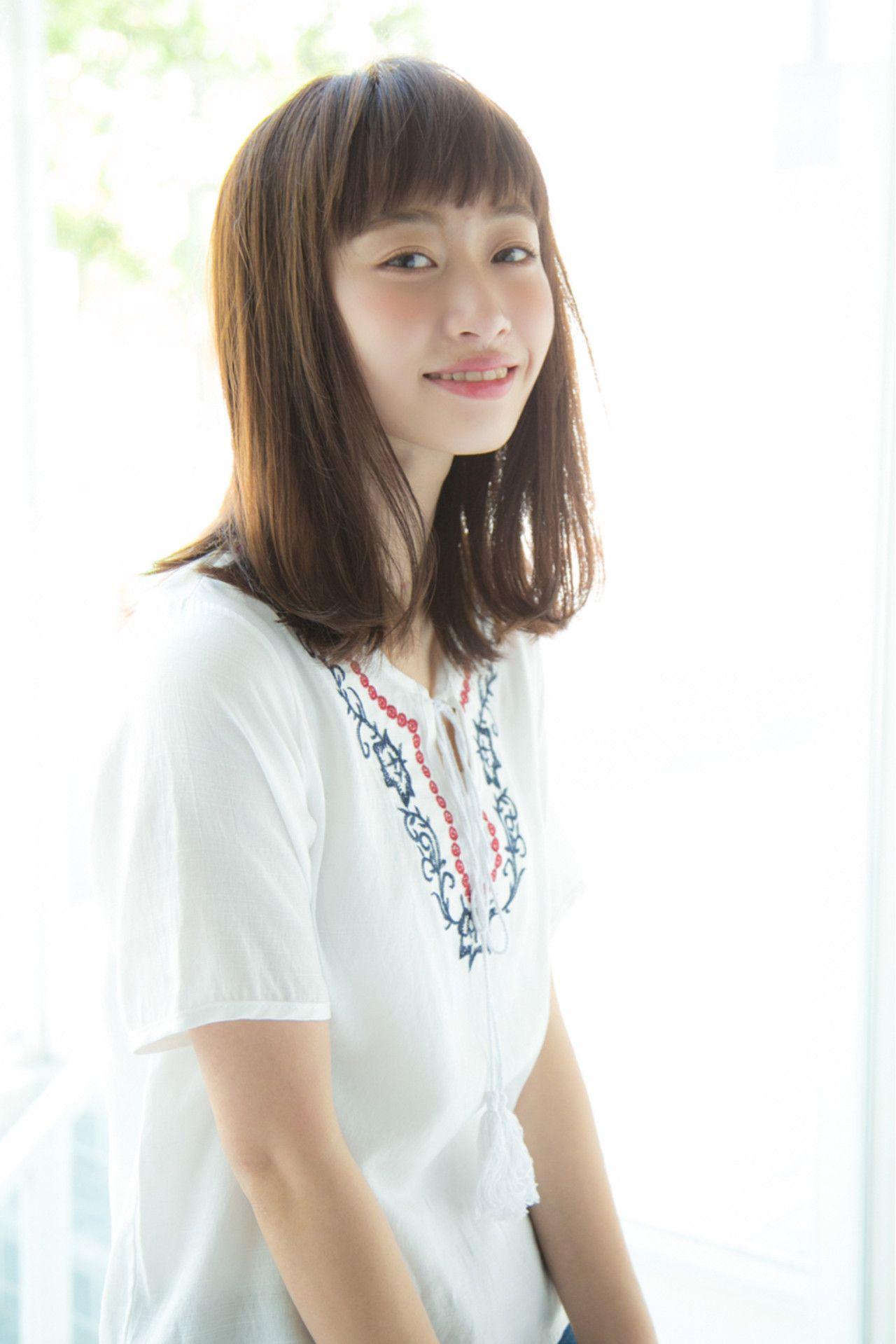 Hira Un Ami 髪 ミディアム ヘアスタイル ヘアカット ミディアム