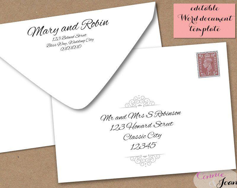 5x7 Envelope Template Word Printable Wedding Envelope Template 5x7 Front And By Envelope Design Template Printable Wedding Envelopes Postcard Template