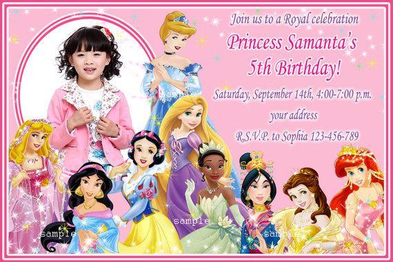 CoolNew Create Disney Princess Birthday Invitations Designs Ideas