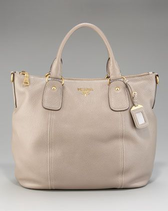Yes please.  Daino Double-Handle Tote by Prada at Neiman Marcus.