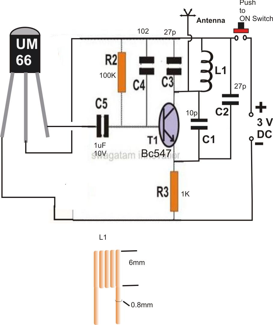 wireless helmet brake light circuit electronic circuit projects