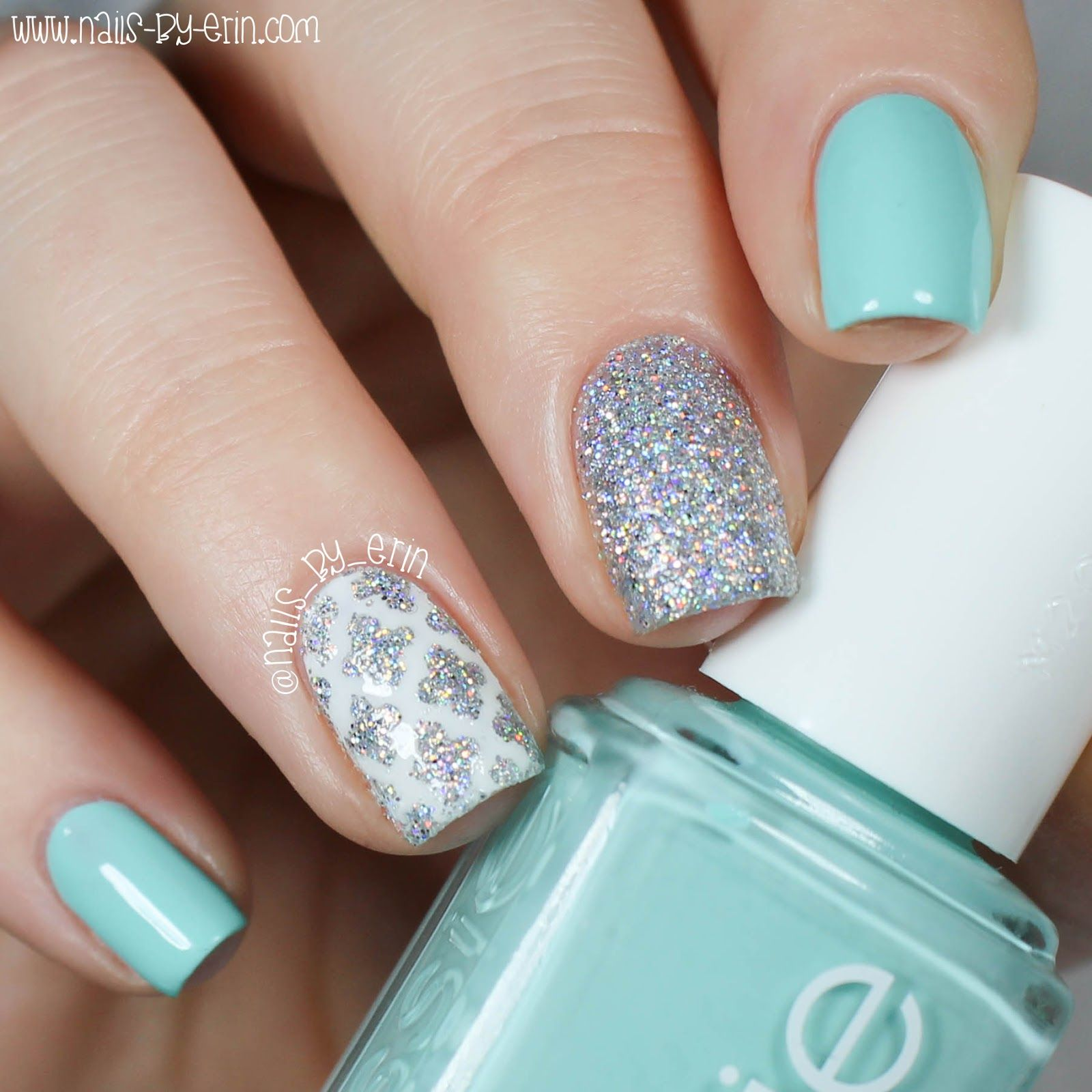 nailsbyerin: blue and silver quatrefoil nails | nail art community