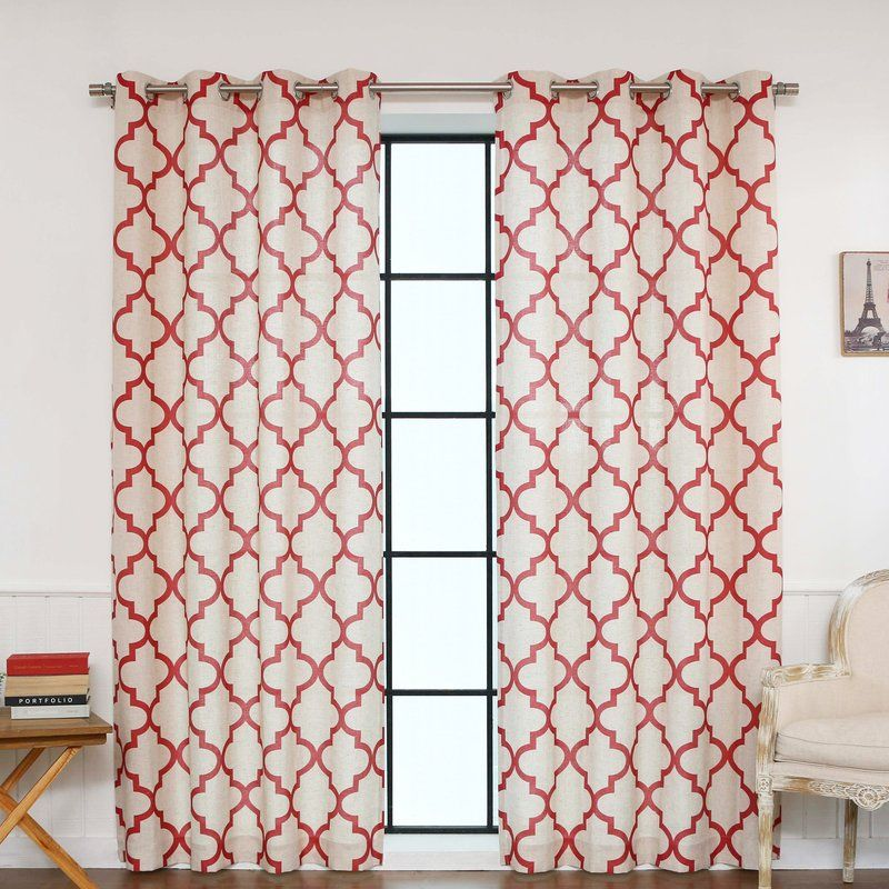 Red Barrel Studio Lakewood Moroccan Tile Curtain Panels Reviews