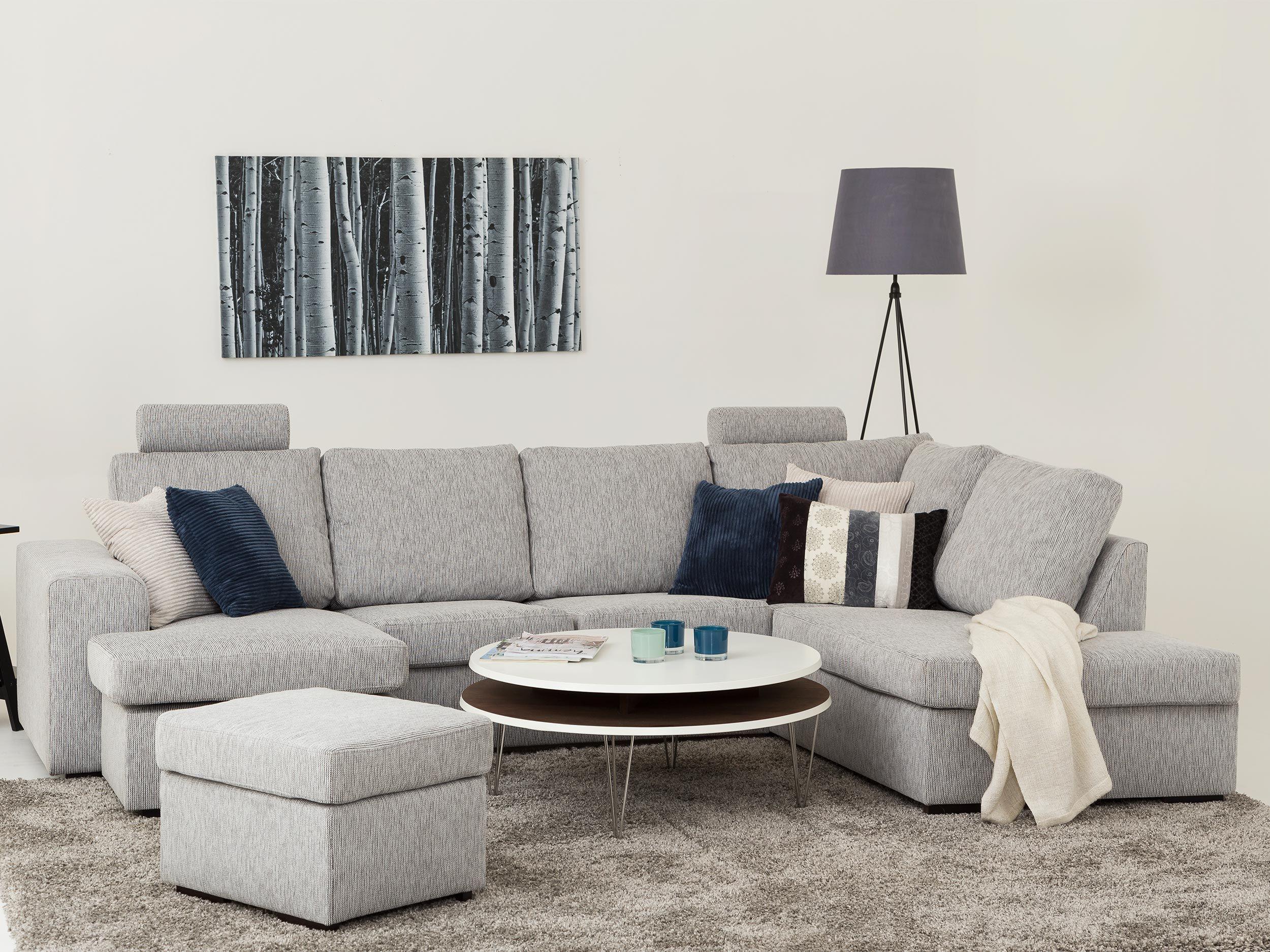 Connect u soffa höger ljusgrå   divan , hörn  & u soffor   soff ...