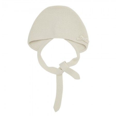 Baby knitted bonnet - Beige