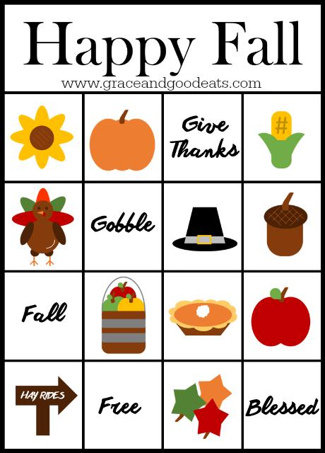 Selective image pertaining to fall bingo printable