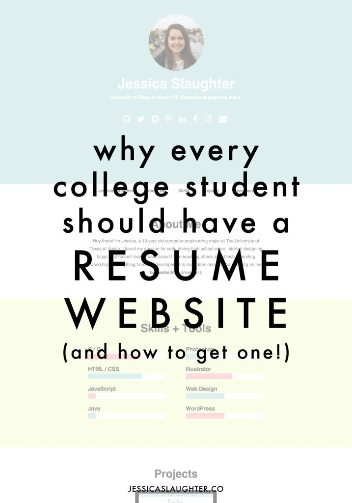Why Every College Student Should Have A Resume Website UNC u002720 - unc resume builder