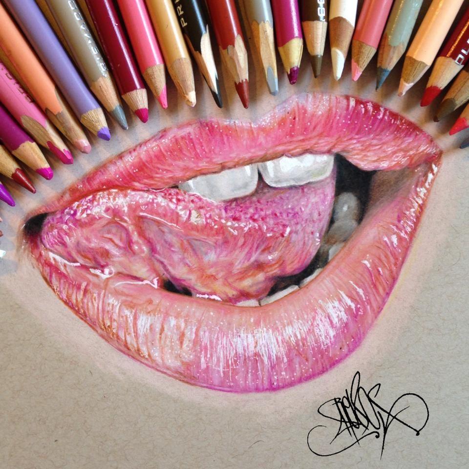 Artist Jose Vergara Contemporary Realist Color Pencil Drawing Of