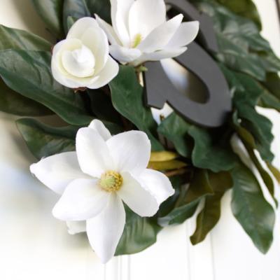 Photo of Farmhouse style DIY magnolia wreath | CraftCuts.com
