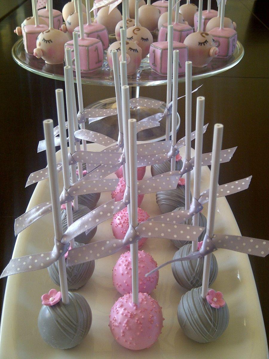Baby shower cake pops cake pops baby shower girl baby