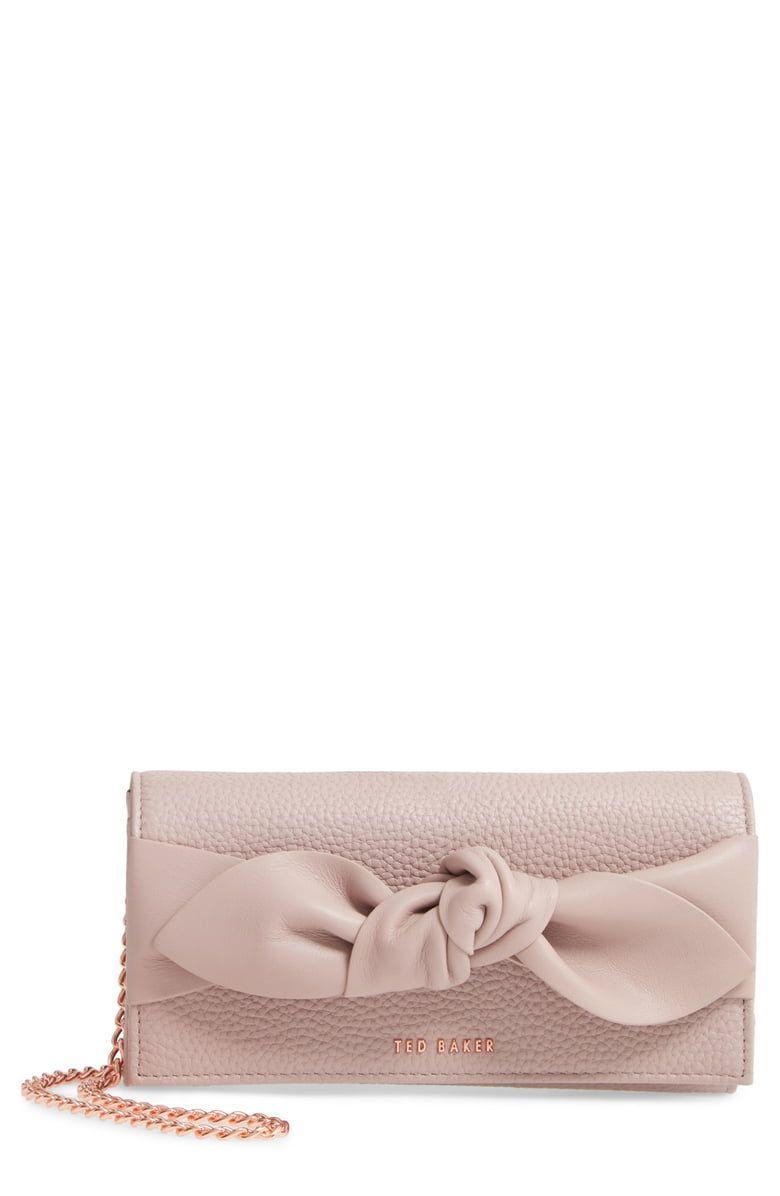 bc52a033e Free shipping and returns on Ted Baker London Knotted Bow Leather Wallet on  a Chain at
