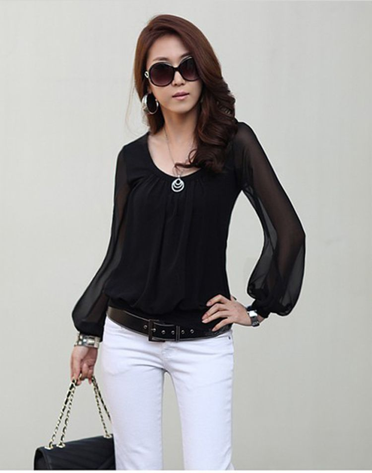 cf9c48acb7b731 ... manga larga de cuello camisas mujer blusas venta top Supernatural  Style. modelos de blusas de chifon - Buscar con Google