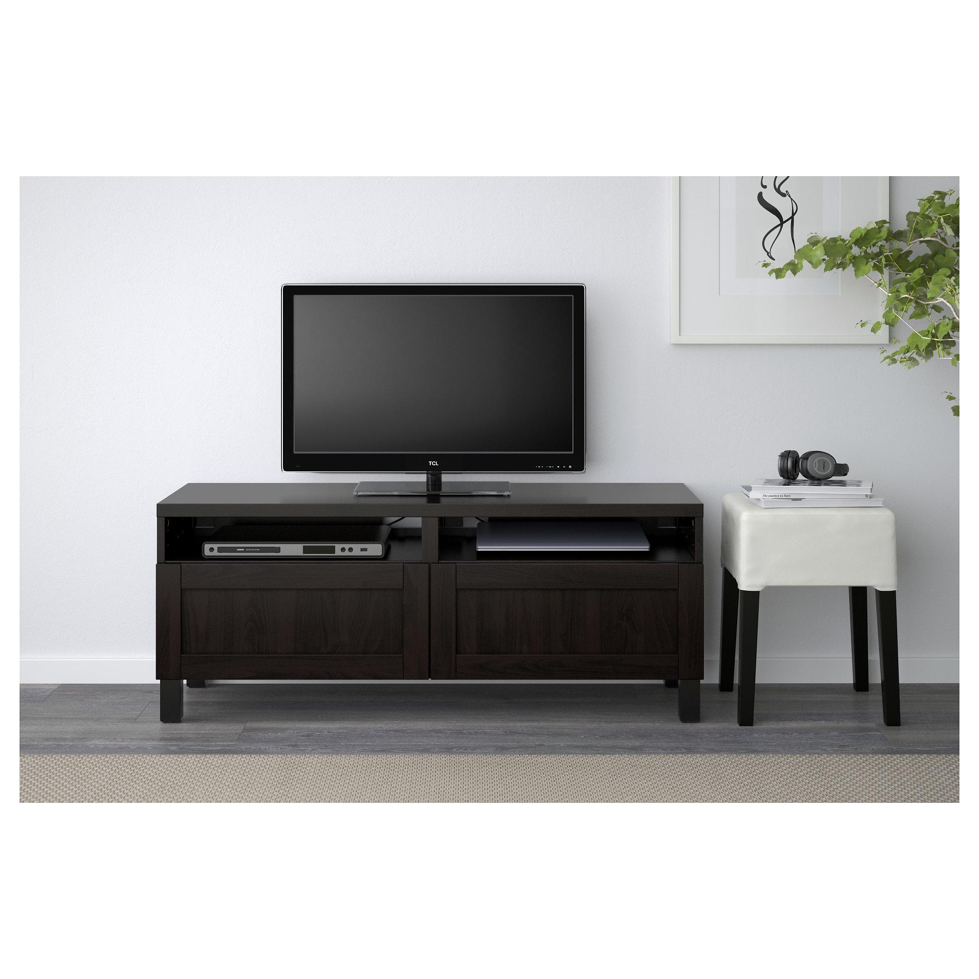 IKEA BESTÅ TV unit with drawers Hanviken blackbrown
