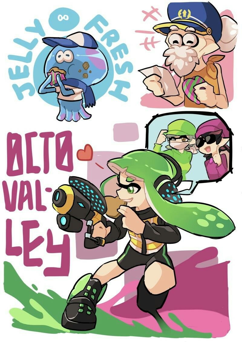 Jelonzo squid sisters agent 3 captain cuttlefish