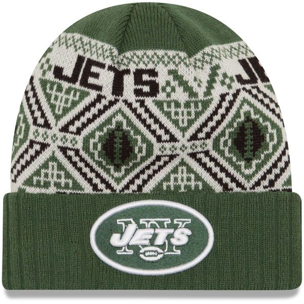 5ac5e11d20b New York Jets New Era Cozy Cuffed Knit Hat - Green -  19.99