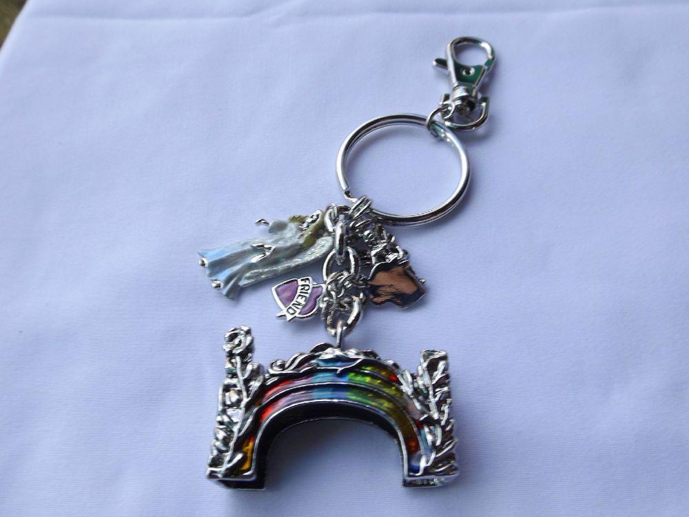 Kirks Folly 35th Anniversary Rainbow Bridge Key Chain Charmer NEW #KirksFolly